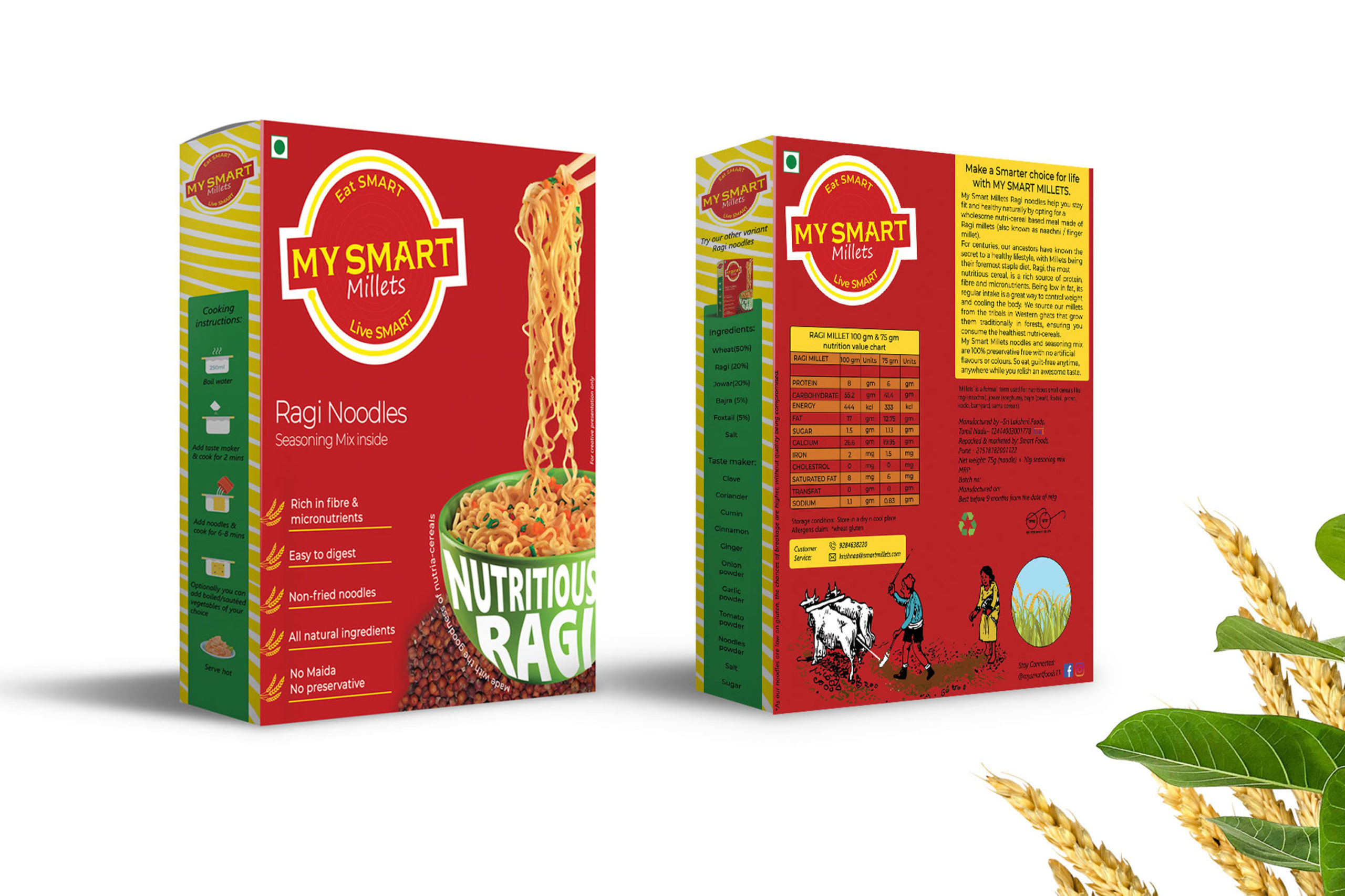Smart Millets - Branding & Packaging